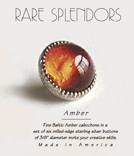Baltic Amber Sewing Buttons