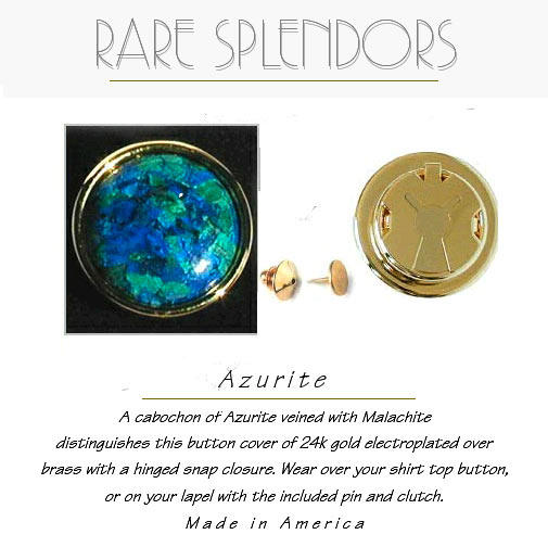 Green Aurite Button Covers / Lapel Boutons