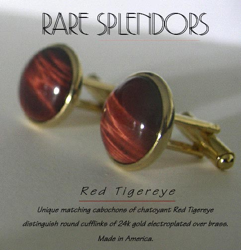 Red Tiger Eye Cufflinks