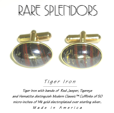 Tiger Iron Modern Classic™ Exclusive Vermeil Cufflinks