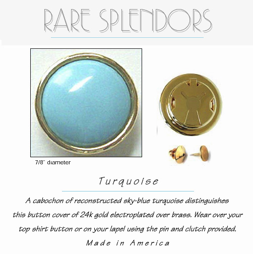 Turquoise Button Covers : Groomsmen Gift™ Fashion Flair